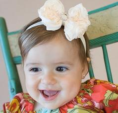Wholesale Diamond Center Flower - Vintage Rose Flower Bows Headbands Baby Girl Toddler Shiny Diamond Center Headbands 60pcs lot 7650