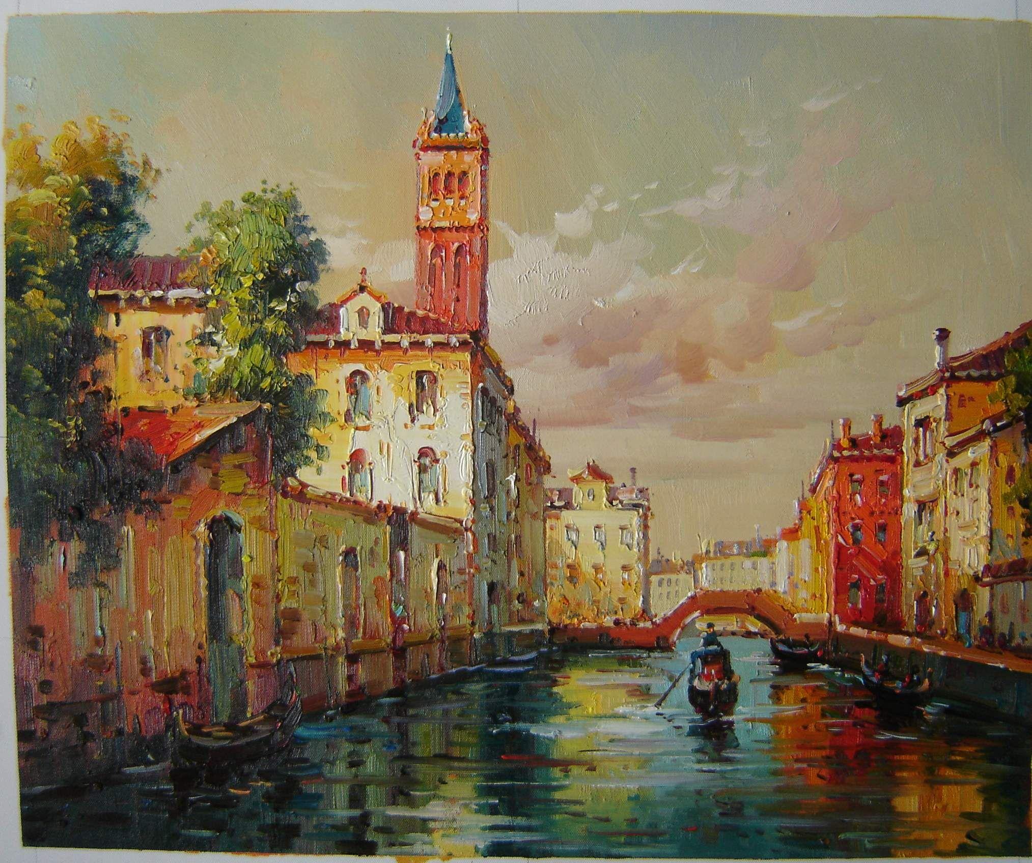 Acquista Impressione Vinice Pittura Ad Olio Vinice Paesaggio ...