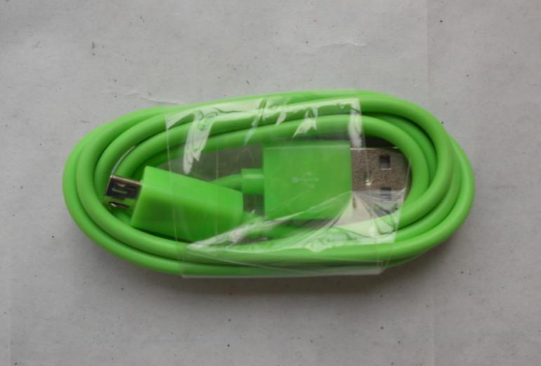 Couleur 1M 3FT 10 couleurs micro usb données et câble de chargement pour samsung blackberry htc motorola LG up