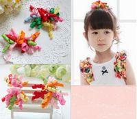 Wholesale Baby Girls Gymboree - Fashion Korker Hair Clips Mix Color Girl Baby Hair Clip Gymboree Party Hair Ornament 7663