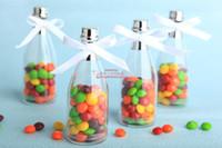 Wholesale Gift Candy Glass Box - Wedding Favors champagne bottle candy box gift box 24pcs lots