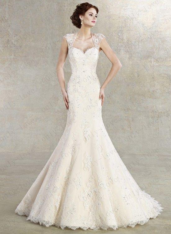 Chic mermaid wedding dresses off shoulder open back beaded for Mermaid off shoulder wedding dress