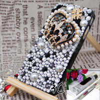 Wholesale Decoration Kits For Mobile Phone - 3D luxurious vintage King jewelry Rhinestone art craft mobile phone cases DIY kits decorations glue