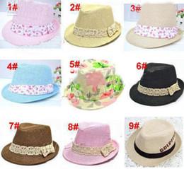 Wholesale Boys Fedora Hats Wholesale Straw - 20pcs* Kids Straw Fedora Hat Baby Summer Straw Cowboy Hat Boys Girls Straw Fedoras Baby Strawhat