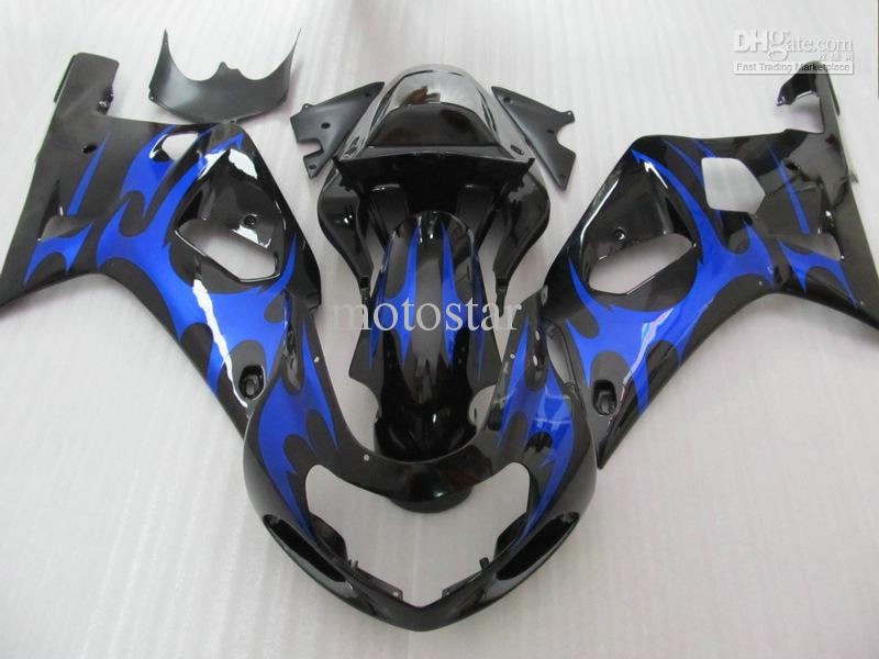 Blue/black fairing kit for SUZUKI GSXR 600 750 K1 GSXR600 01 02 03 GSX-R750 2001 2002 2003