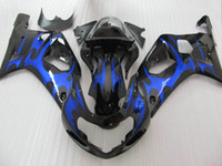 Blue black fairing kit for SUZUKI GSXR 600 750 K1 GSXR600 01...