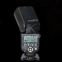 ingrosso telecamera flash yongnuo-YONGNUO aggiornato YN560 YN-560 III Wireless Flash LCD Speedlite Flashlight per fotocamera DSLR Canon Nikon Pentax
