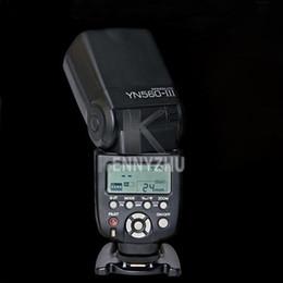 Wholesale Pentax Camera Flash - YONGNUO Upgraded YN560 YN-560 III Wireless LCD Flash Speedlite Flashlight For DSLR Camera Canon Nikon Pentax