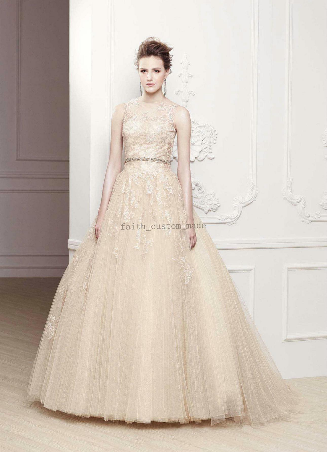 Discount champagne a line wedding dresses jewel lace beaded discount champagne a line wedding dresses jewel lace beaded crystal bridal gowns drop back enzoani olivia m a line wedding dresses with sleeves affordable ombrellifo Gallery