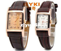 Wholesale Eyki Watch Steel Band - Holiday sale EYKI Brand Watch women men For Love Pairs,Good Quality Leather Band Japan Movement Quar