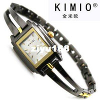 Wholesale Tungsten Steel Price - Holiday sale 3 Colors Super Price Korean Fashion Brand Wrist Watch KIMIO Nice Tungsten steel lady Wo