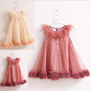 2017 2013 New Girl Dress Infant Princess Party Baby Dress Voile ...