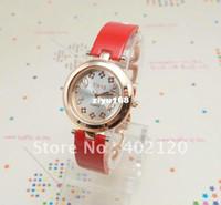Venta al por mayor Relojes De Señora - Rosa de Oro Moda Tone envío libre Nueva llegada de Lady Red Panting Watch, TW005-R