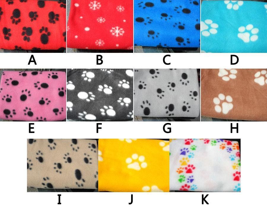 2019 New Pet Dog Cat Paw Print Couture Fleece Blanket Mat