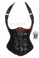 Wholesale Sexy Black Pvc Corset - Sexy Lingerie White PVC Faux Leather Lace Up Basque corset Club Party Wear W8668 S--XXL