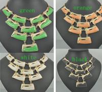 gargantilha laranja venda por atacado-2017 mulheres Populares dickie orange branco moda colar gargantilha, correntes de colarinho, colar de bib Instrução