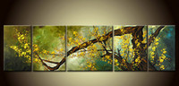 Wholesale 5pc Canvas Art - Hot sales!5pc pieces Large Modern Abstract Art Oil Painting Wall Decor canvas
