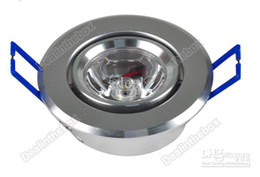 Wholesale 3w Warm White Ceiling - HOT 1X !3W LED Ceiling Light Down Recessed Lamp Warm White 100V-240V #2025