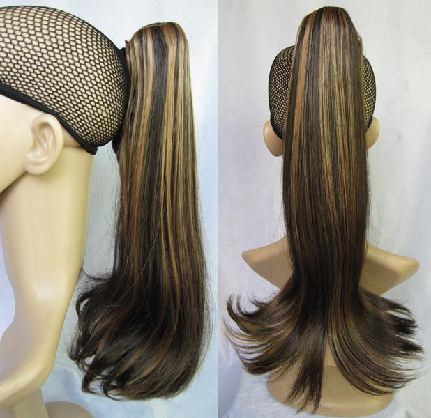 Girls Stylish Hairpieces Highlighted Ponytail Hair Synthetic Hair