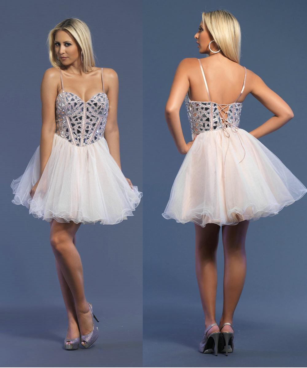 Cheap Nude Beaded Corset Cocktail Dresses 2013 Sweetheart ...