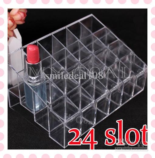 Discount Cosmetic Organizer 24 Makeup Lipstick Storage Display .