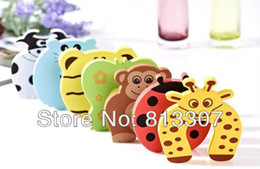 Wholesale Wholesale Child Gates - 10pcs set Child kids Baby Animal Jammers Stop Door stopper holder lock Safety Guard Finger P