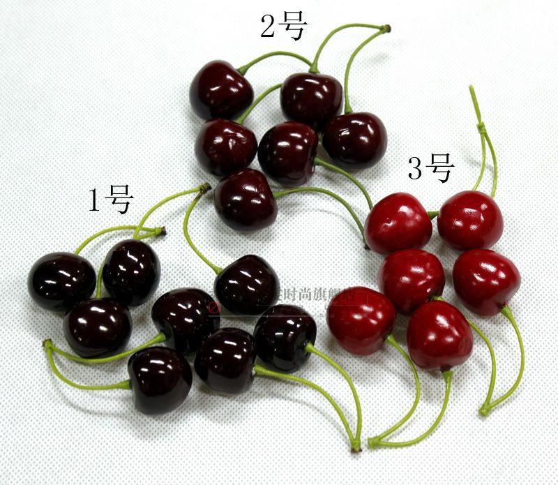 fruta de la simulación de la fruta artificial de plástico de espuma de cerezo de la boda en casa de decoración Artículos de fiesta