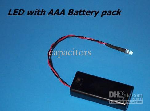 / couleur rouge 5 mm LED AVEC AAA BATTERIES PACK