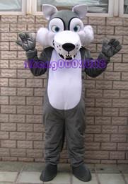Wholesale Gray Wolf Costume - Brand new gray wolf Mascot costume adult size!