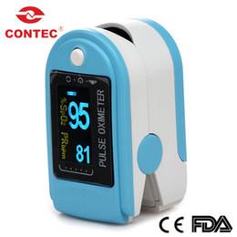 Oximeter Fingertip Canada - FDA CE CONTEC CMS50D Fingertip Blood Oxygen Monitor Fingertip Pulse Oximeter