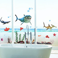 Whosale Removable Finding Nemo Movie Wall Stickers Decalques de parede de desenhos animados Nursery Kids Room Wall Decor Suporte para Mix Order