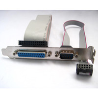 Wholesale Parallel Cables - Parallel LPT Printer BD25 + DB9 COM Serial Port cable pc rear bracket RS232