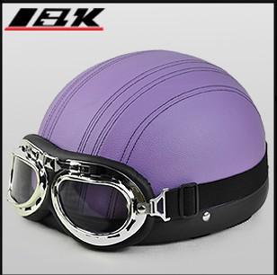 Venda por atacado - 2013 novo capacete da motocicleta capacete de verão metade do rosto capacete de moto capacete de bicicleta elétrica com ABS e cor azul