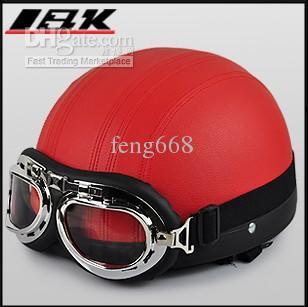 Großhandel - 2013 New Motorrad Helm Sommer Helm halbe Gesicht Helm Motorrad Helm Elektrischer Fahrradhelm mit ABS und blauer Farbe