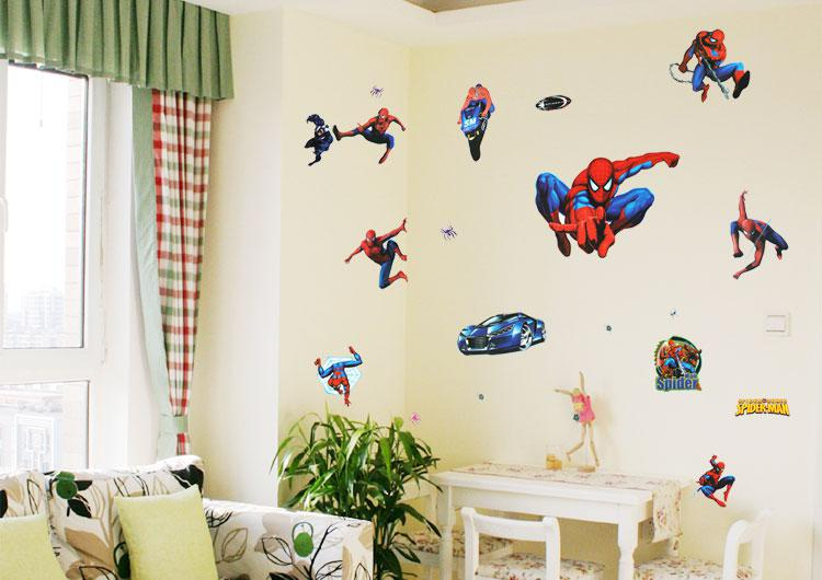 Removable 3G Spiderman Wall Decals 50x70cm Room Decor Wall Stickers Decals  Children Room Wall Decor