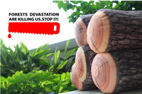 Wholesale Support Pillow Baby Safe - Green Log Lovely Baby Adult Pillow Safe Comfortable Head Neck Support Soft Prevent Flat Head Cushion Pillows Wood Shape Fashion Log Pillow