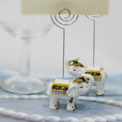 ! Good Luck Elephant place card holder favors Elephant card holder wedding favors Party Decors Gifts
