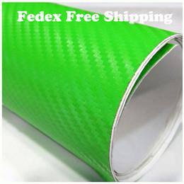 $enCountryForm.capitalKeyWord NZ - 3D Carbon Fiber Vinyl Car Sticker Big Square Texture Film Bubbles Free Green color 1.52m*30m roll Fedex free shipping with Free Gift Scraper