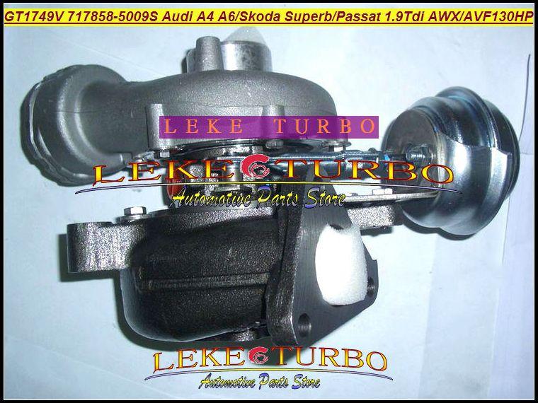 GT1749V 717858-5009S 717858-5008S 717858-5008S 717858-5008S 717858-0005 0381458-0005 038145702G Turbo Turbocompresseur pour Audi A4 A6 Skoda Superb Passat 2009- 1.9l TDI AVF 130HP 130HP