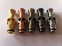 Wholesale Drip Vivinova - Snake Skull head Human Skeleton style Metal Drip Tips Mouthpieces for Ego new dct Vivi Nova vivinova UDCT e cigarette drip tip