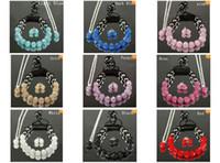 Wholesale Necklace Shamballa Bracelet Earring - 11pcs crystal clay disco shamballa bracelet necklace stud earrings shamballa jewelry set hot sale