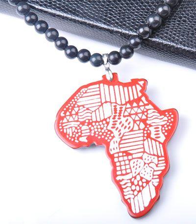Misto acrilico acrilico della collana dei branelli di plastica acrilica dei branelli dei monili di modo della mappa africana