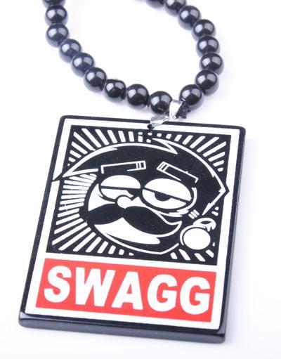 Nuovo pendente di SWAGG di arrivo buona collana acrilica di legno Hip Hop monili alla moda