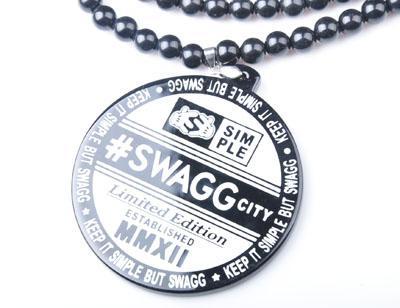 Nouvelle Arrivée #SWAGG Ville Pendentif Bon bois Collier En Acrylique Hip Hop À La Mode bijoux Livraison Gratuite
