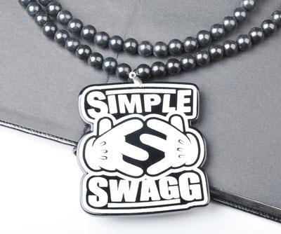 Nouvelle Arrivée Simple SWAGG Pendentif Bon bois Collier En Acrylique Hip Hop Bijoux À La Mode
