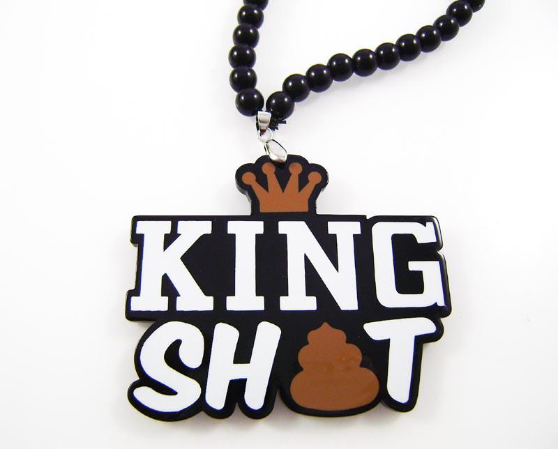 Новое прибытие!Король дерьмо хип-хоп акрил хорошее качество 1 шт./лот кулон четки ожерелья из бисера