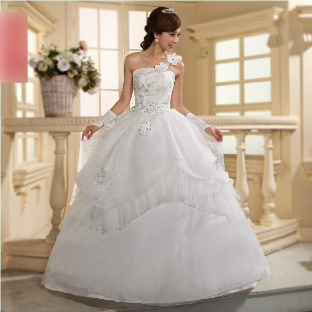 Cheap Wedding Dress One Shoulder Bridal Gown With Low Price ...