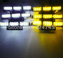 Wholesale Led Amber Warning Lightbar - 54 LED Warning Blinking Strobe Flash Light Lightbar Deck Dash Grille LED EMERGENCY STROBE LIGHTS