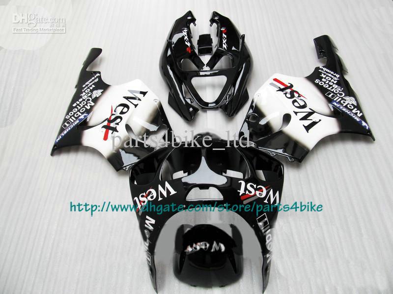 Juego de carenado de plástico ABS para Kawasaki Ninja ZX7R 1996 - 2003 ZX7R ZZR 750 96 - 02 03 West black RX