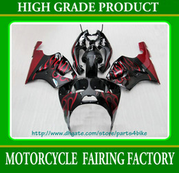 Wholesale 1996 Zx7r Red - ABS Plastic Fairing kit for Kawasaki Ninja ZX7R 1996 - 2003 motorcycle bodywork wine red flames RX